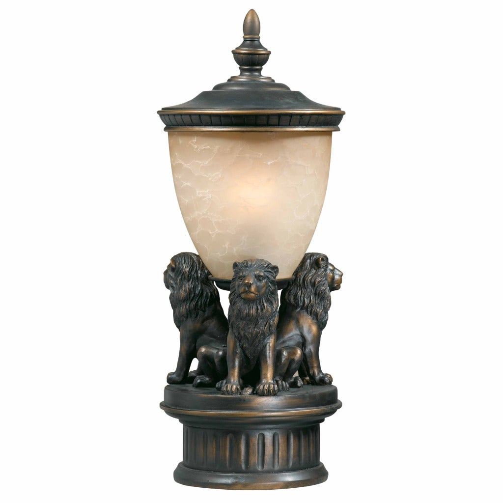 triarch international lion 3 light oil rubbed bronze. Black Bedroom Furniture Sets. Home Design Ideas