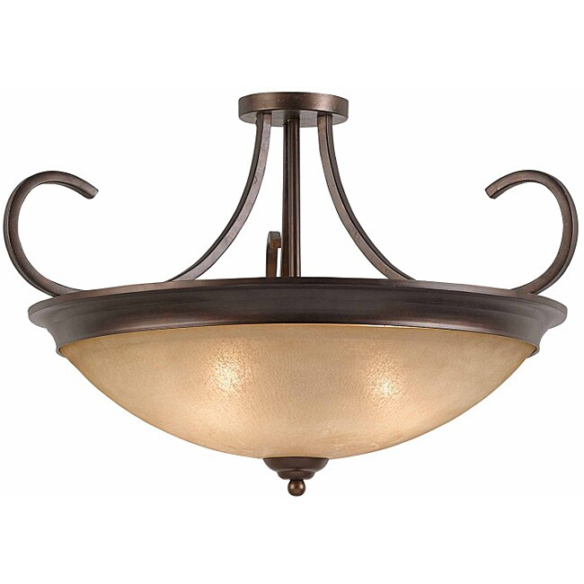 Triarch International LaCosta 4-light English Bronze Semi-Flush Mount