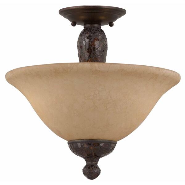 Triarch International Jewelry 2-light Harvest Bronze Semi-Flush Mount