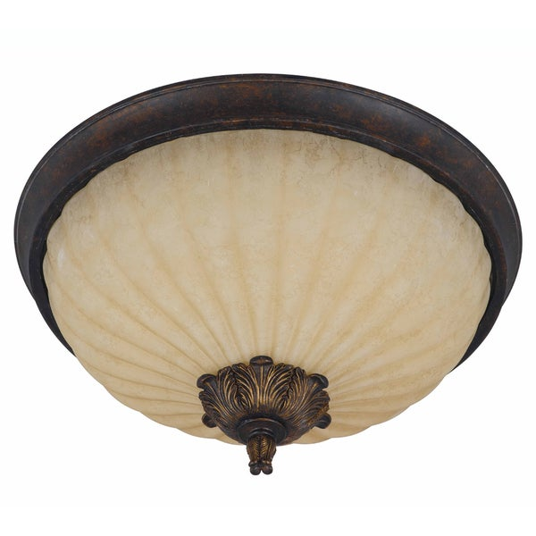 Triarch International Venus 5-light English Bronze Flush Mount