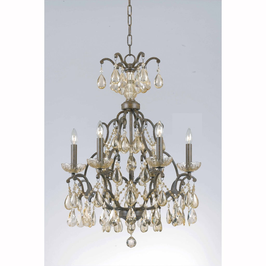 Triarch International Versailles 6-light Antique Bronze Chandelier - Thumbnail 0