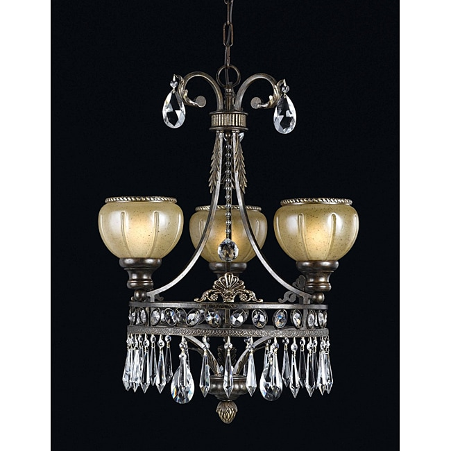 Triarch International LeGrandeur 3-light English Bronze Chandlelier