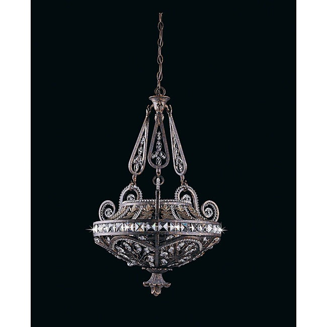 Triarch International Grand 3-light English Bronze Pendant Chandelier