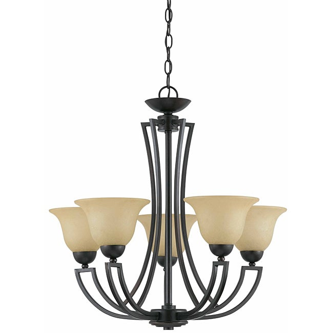 Triarch Inernational Greco 5-light English Bronze Chandlelier