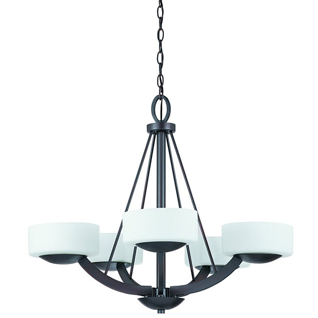 Triarch International Viking 5-light Oil Rubbed Bronze Chandelier