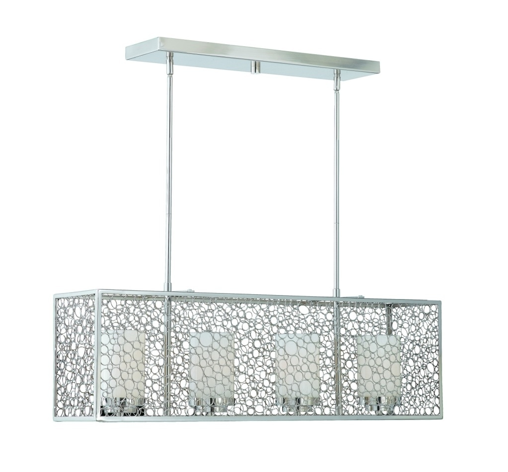 Triarch International Contemporary 4-light Chrome Island Light - Thumbnail 0