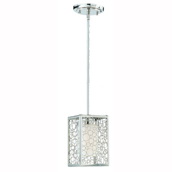 Triach International Contempo 1-light Chrome Mini Pendant Fixture