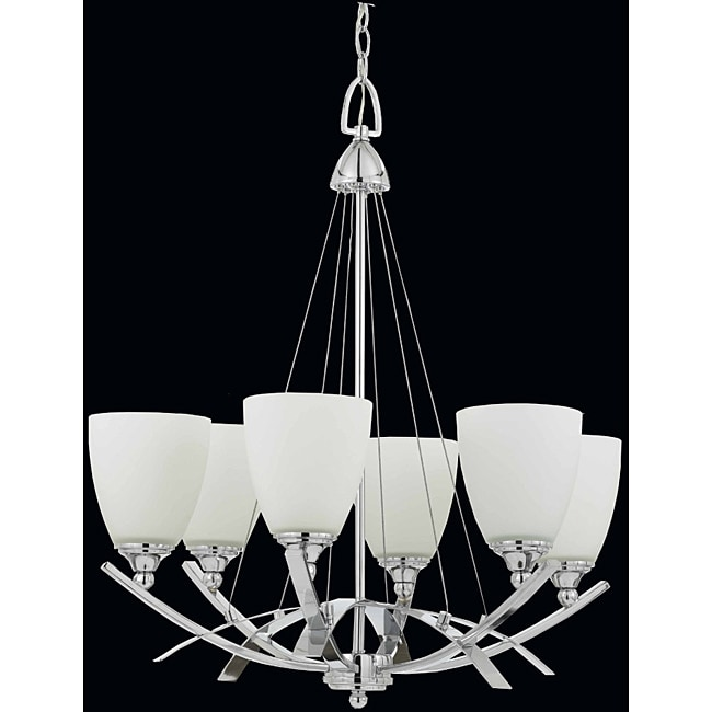 Triarch International Neptune 6-Light Chrome Chandelier