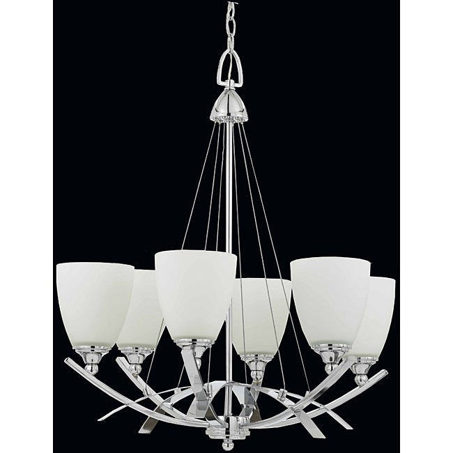 Triarch International Neptune 6-Light Chrome Chandelier - Thumbnail 0