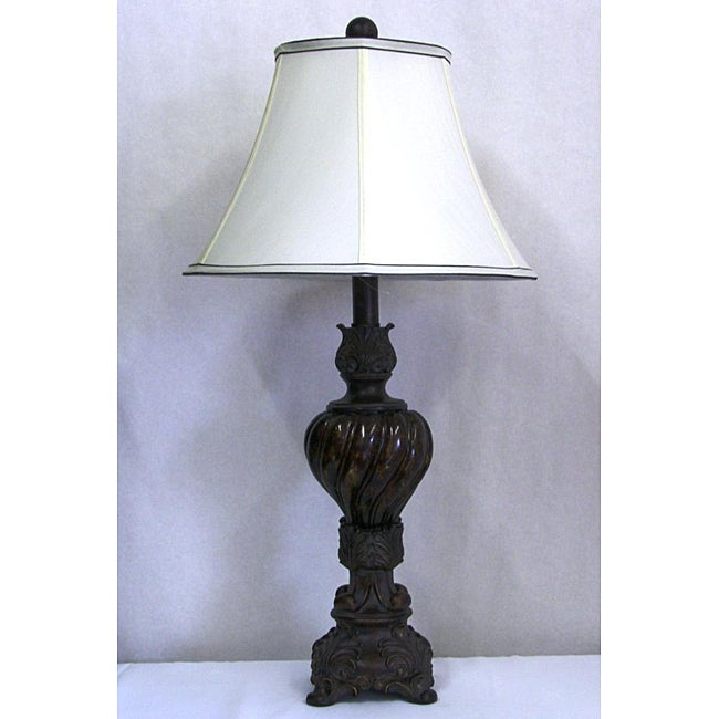 Light Transitional Table Gold Wash Lamp
