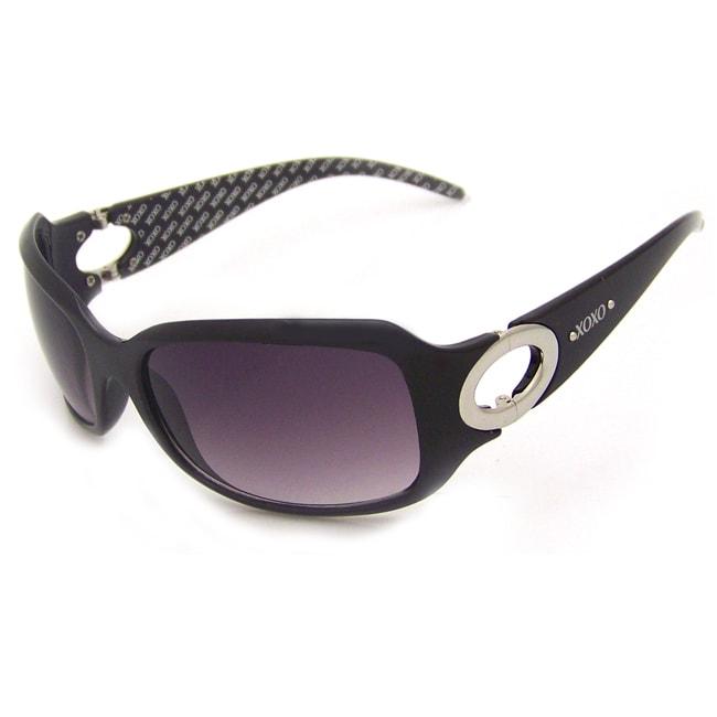 XOXO Women's 'Kingston Black' Fashion Sunglasses