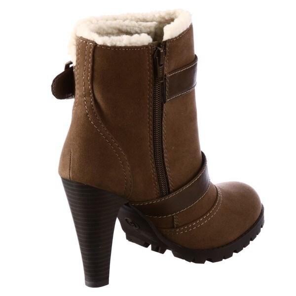 Fergalicious Women's 'Kordial' Taupe Short Boots FINAL SALE