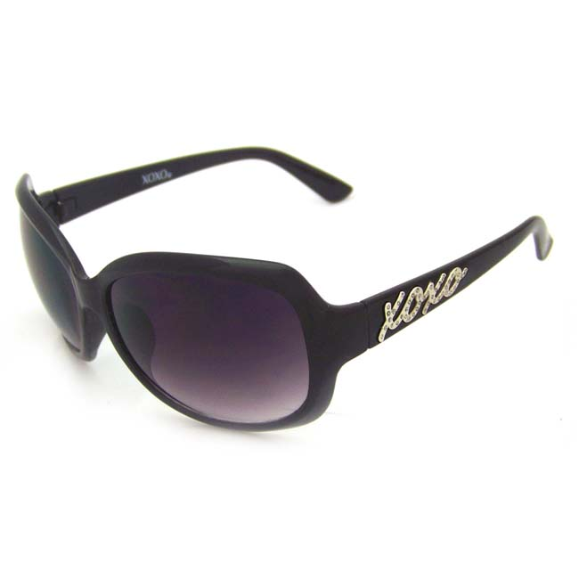 XOXO Women's 'Confetti Black' Fashion Sunglasses