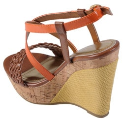 Journee Collection Women's 'Mirage' Strappy Open Toe Wedges - Thumbnail 1