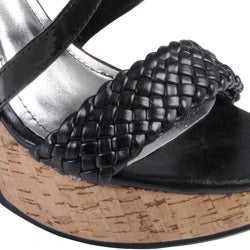 Journee Collection Women's 'Mirage' Strappy Open Toe Wedges - Thumbnail 2