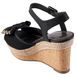 Journee Collection Women's 'Pippa-12' Open Toe Ankle Strap Wedge - Thumbnail 1