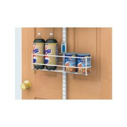 Organized Living freedomRail White Over-the-Door Large Can Holder