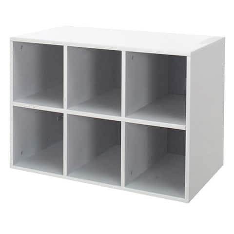 Organized Living freedomRail GO-Box 6-cubby Storage Unit with Back