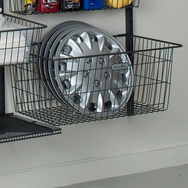Organized Living freedomRail Granite Deep Work Basket