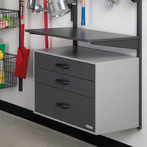Organized Living freedomRail Granite Grey Heavy Duty Worktop Wood Bracket
