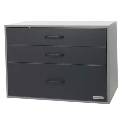Organized Living freedomRail GO-Cabinet Granite 3-drawer Garage Cabinet
