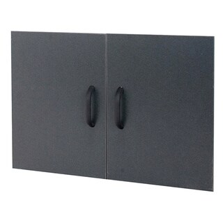 Organized Living freedomRail GO-Box Granite Grey Shelf Doors (Pack of 2)