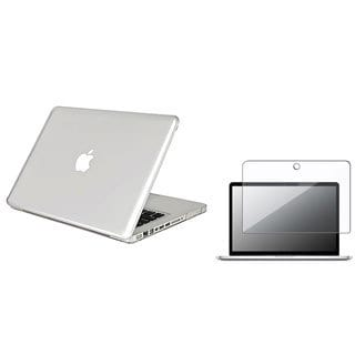 INSTEN Clear Snap-on Laptop Case Cover/ Screen Protector for Apple MacBook Pro 13-inch