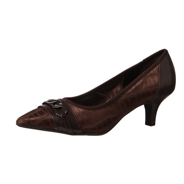 AK Anne Klein Women's 'Denisa' Dark Brown Kitten Heels - Free ...