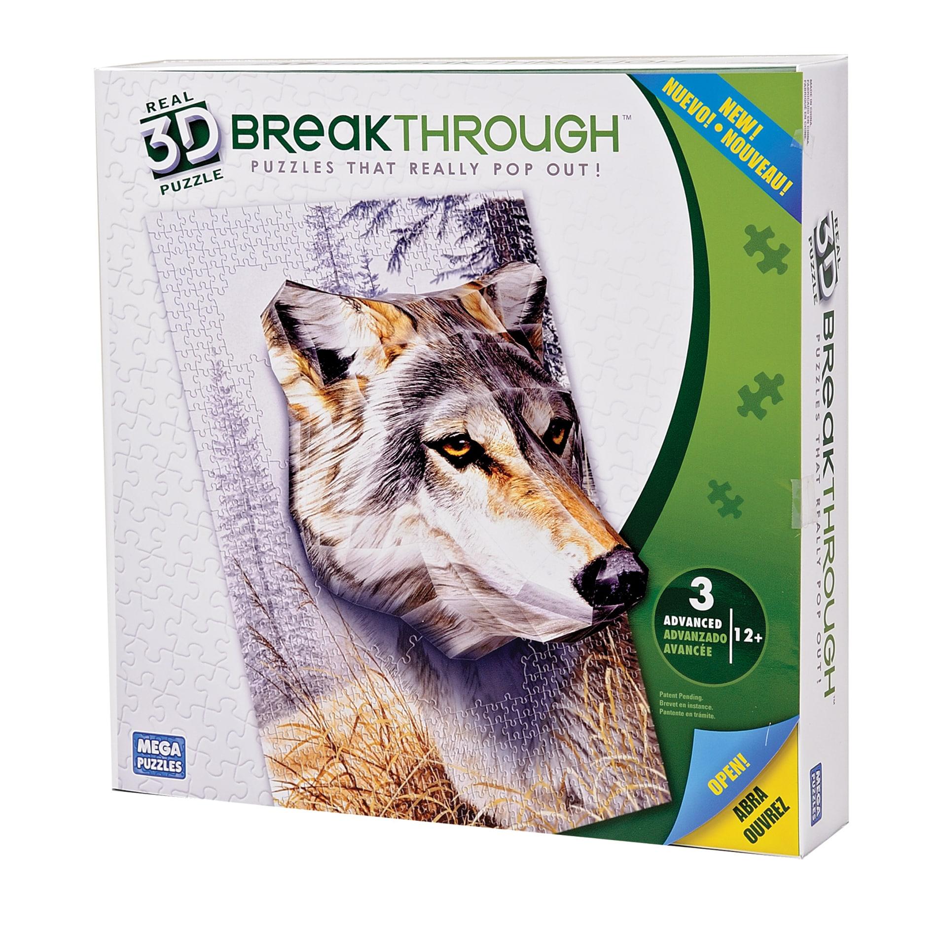 Mega Bloks 300-piece 3D Wolf Puzzle