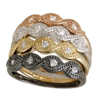 Link to Icz Stonez Color-plated Cubic Zirconia Ring Similar Items in Rings