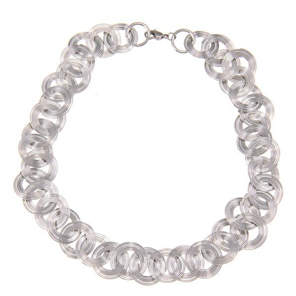Stainless Steel Multi-circle Fashion Wire Necklace