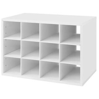 Organized Living freedomRail White O-Box Shoe Cubby