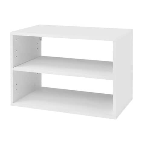 Organized Living freedomRail O-Box Shelf Unit in White