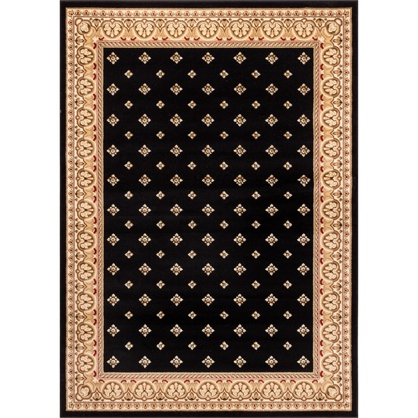 Dallas Formal European Floral Border Diamond Field Black