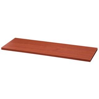 Organized Living freedomRail Pre-Drilled Cherry-Wood Shoe Shelf (30-Inch x 14-I