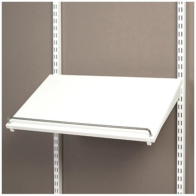 Organized Living freedomRail Pre-Drilled White Shoe Shelf (24 x 14)