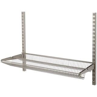 Organized Living freedomRail 30-inch Nickel Tiered Ventilated Shelf