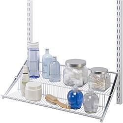 Organized Living freedomRail White Tiered 24-inch Ventilated Shelf
