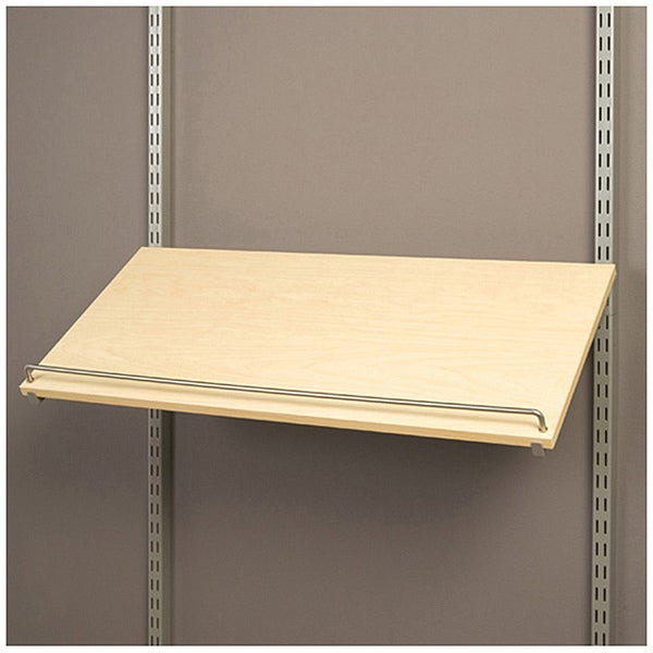 Organized Living freedomRail Pre-Drilled Maple Shoe Shelf (30x14)
