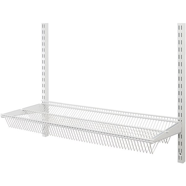 Organized Living freedomRail White 30-inch Tiered Ventilated Shelf