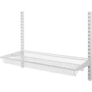 Organized Living freedomRail White 30-inch Tiered Ventilated Shelf