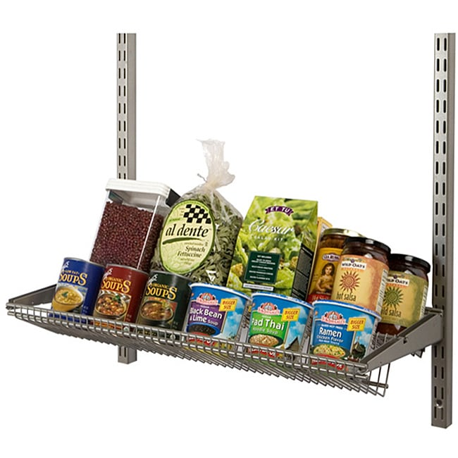 Organized Living freedomRail Nickel 24-inch Tiered Ventilated Shelf - Thumbnail 0