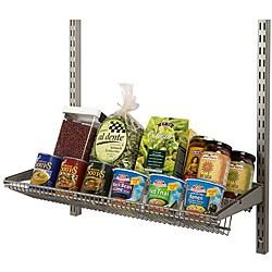 Organized Living freedomRail Nickel 24-inch Tiered Ventilated Shelf