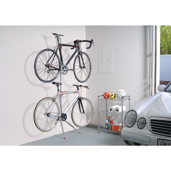 The Art Of Storage Donatello Leaning 2-Bike Rack 14 in. L x 84 in. H x 22 in. W
