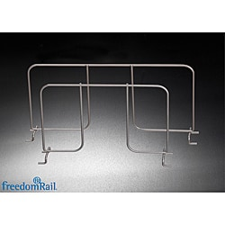 Organized Living freedomRail Nickel Ventilated 12-inch Shelf Divider