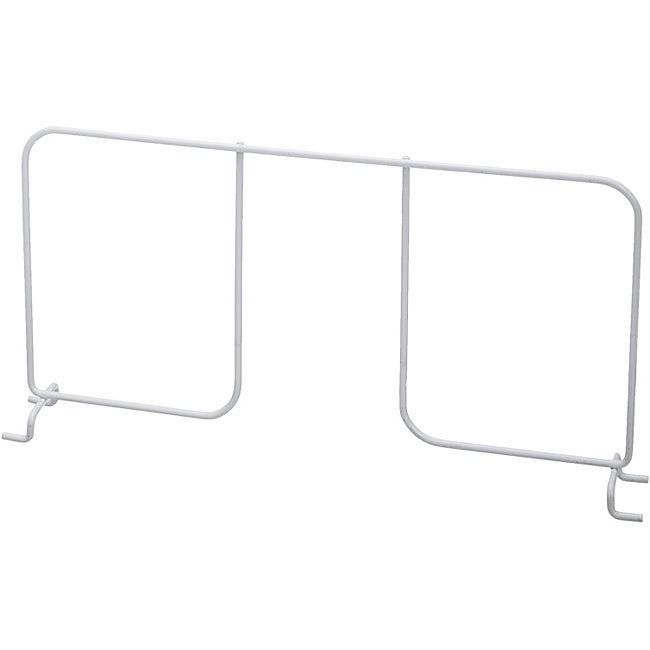 Organized Living freedomRail White Ventilated 16-inch Shelf Divider