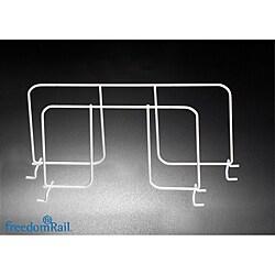 Organized Living freedomRail White Ventilated 12-inch Shelf Divider