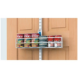 Organized Living freedomRail White Over-the-Door Can Holder