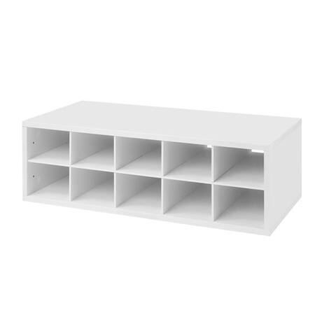 Organized Living freedomRail White Double Hang 'Big-O-Box' Cubby