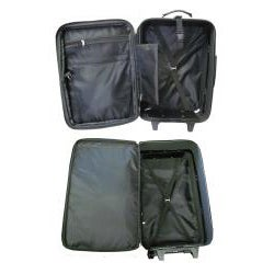 Amerileather Black Leather 3-piece Luggage Set - Free Shipping ...